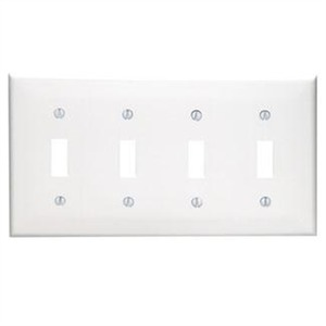 80712-W WHITE 4G TOGGLE SWITH PLATE