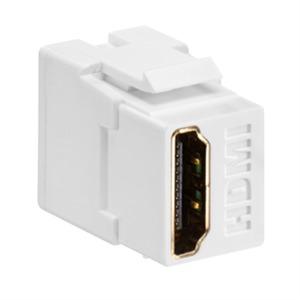 40834-W WH.QUICKPORT HDMI CONN.FEEDTHRU