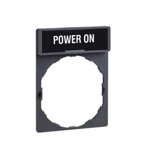 ZBY2326 LEGEND PLATE FOR PUSHBUTTON SWIT