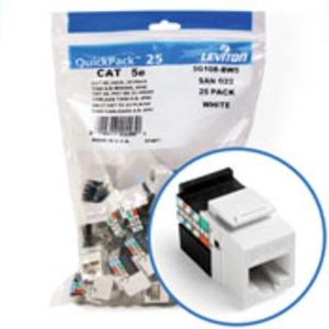 5G108-BW5 WHITE CAT5E SNAPIN JACK