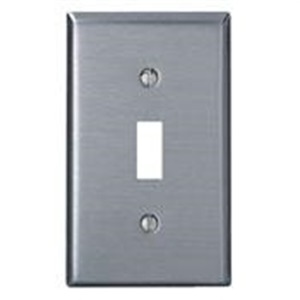 84001 1GANG TOGGLE SWITCH PLATE SS