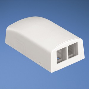 NK2BXWH-A NK 2PORT SURFACE MT. BOX WHITE