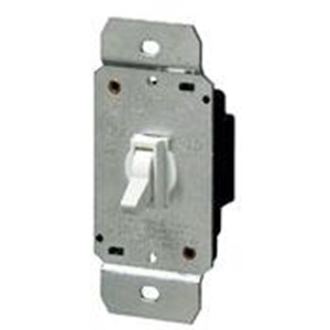 6641-W TOGGLE DIMMER SP 600W120V WHT