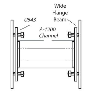 U543HDG  INSIDE BEAM CLAMP
