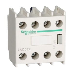 LADC22 FRONT CONTACTS BLOCK 2NO+2NC MAKE