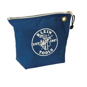 5539BLU CANVAS ZIPPER BAG BLUE