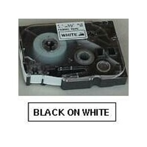 TZE211 BLACK ON WHITE TAPE  (6MM)