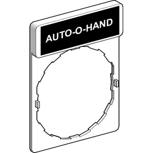 ZBY2385 AUTO-O-HAND LEGEND PLATE