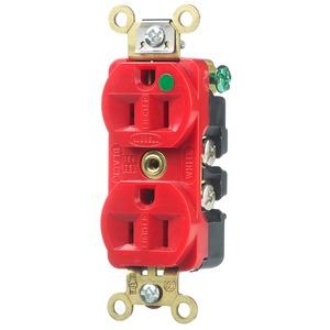 HBL8200ILR 15A 125V DUP STR BLD ILL RED