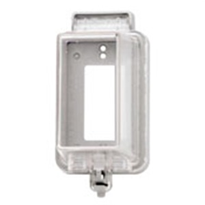 5977-DCL CLEAR COVER VERTICAL GFCI