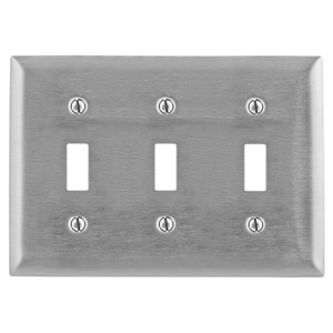 SS3 3G SWITCH PLATE ST/STEEL