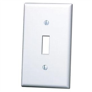 88001 WHITE 1G TOGGLE SWITH PLATE