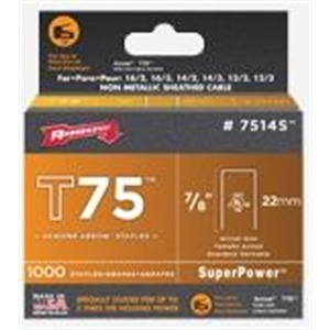 T75 7/8X1000 (#7514S) TACK POINT STAPLES