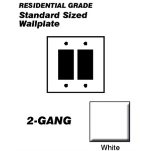 80409-W WHITE 2G DECORA PLATE
