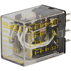 8501RS14P14V20 4 POLE RELAY W/PL 120-50/