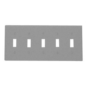 84023-40 5GANG TOGGLE SWITCH PLATE SS