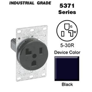 5371 RECEPT.FLUSH 30A 125V 2P 3F (5-30R)