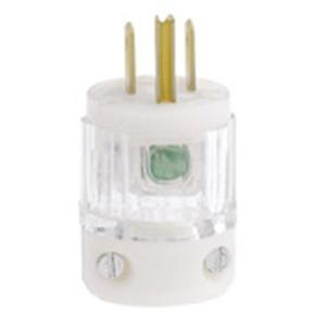 8215-PLC CLEAR PLUG HG 15A 125V 2P 3W