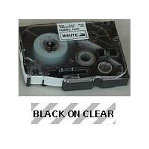 TZE121 BLACK ON CLEAR TAPE (9MM)