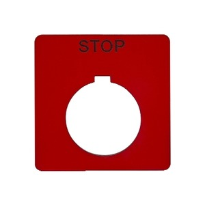 9001KN102RP RED STOP N/P 21/4 .