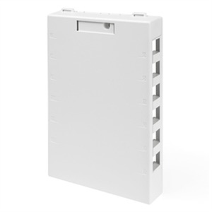 41089-12W SURFACE BOX 12P WHITE