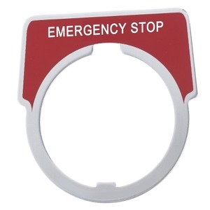9001KN205  EMERG. STOP LEGEND