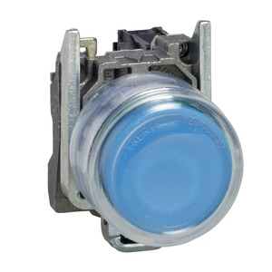 XB4BP61 PB BLUE PROJECTING CLEAR BOOT