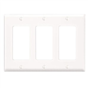 80411-NW WHITE 3G NYLON DECORA PLATE
