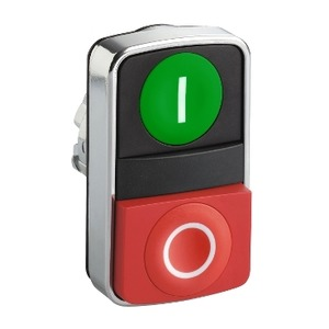 ZB4BL7341 METAL DOUBLE HEADED PUSHBUTTON