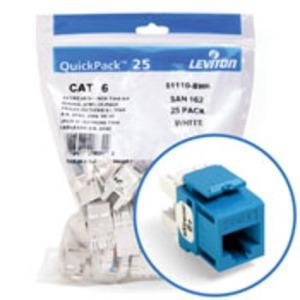 61110BL6 JACK CAT 6+ BLUE (25 PK)