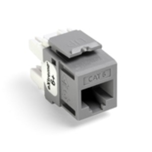 61110-RG6 Q/P CONNECTOR CAT 6 GREY