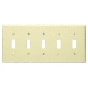 86023 IVORY 5G TOGGLE SWITCH PLATE