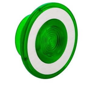 9001G22 GREEN PUSH PULL KNOB