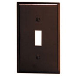 85001 BROWN 1G TOGGLE SWITH PLATE
