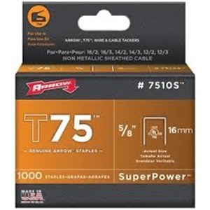 7510S STAPLES  5/8IN.(BOX 1000) T75