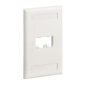 CFPL2WHY CLASSIC 2P FACEPLATE WHITE
