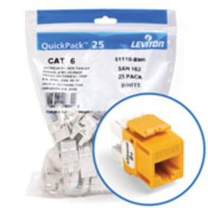 61110-BY6 CAT6 RJ45 MODULE YELLOW (PG25)