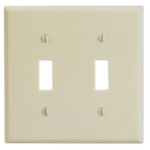 86009 IVORY 2G TOGGLE SWITCH PLATE