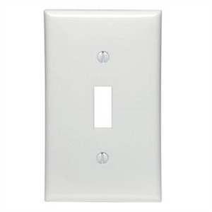 80701-W WHITE 1G NYLON SWITCH PLATE