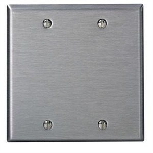 84025 2GANG BLANK SS PLATE-BOX MOUNT.