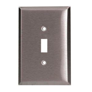 97072SS 2GANG TOGGLE SWITCH PLATE SS