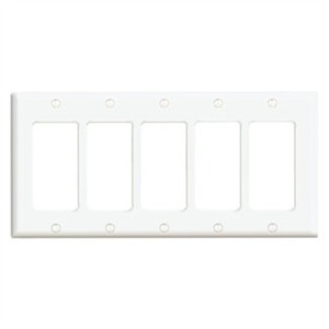 80423-W WHITE 5G DECORA PLATE