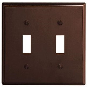 85009 BROWN 2G TOGGLE SWITCH PLATE
