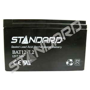 BATTERY/12V/7.2AH/0.188/TABS (57337)