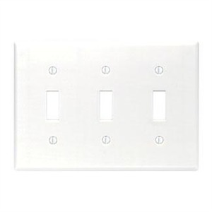 88011 WHITE 3G TOGGLE SWITCH PLATE