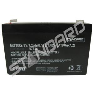 BATTERY/6V/7.2AH/0.188/TABS (57336)