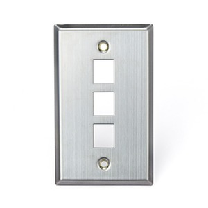 43080-1S3 Q/P STAINLESS PLATE 1G 3P