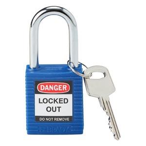 """99556 BRADY SAFETY PADLOCK 1.5"""" KD BLUE"""