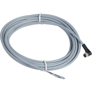 XZCPV1041L5 CORDSET PVC FEMALE M8 4P 90D