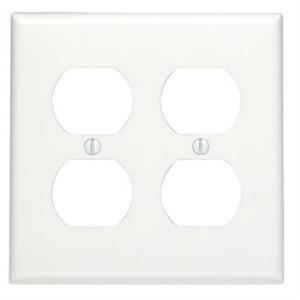 88016 WHITE 2G DUPLEX PLATE